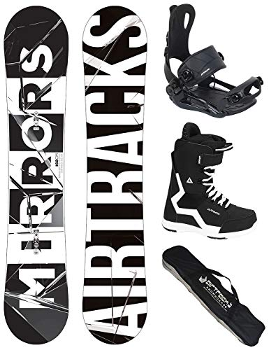 Airtracks Snowboard Set/Board Mirrors Wide 152 + Snowboard Attacchi Master + Boots Strong QL 42 + SB...