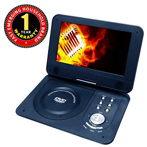 iBELL Portable DVD Player PD8690 DVD Player with Inbuilt USB, SD/MMC, Dolby Digital Decoder, Multiple OSD,9 inch