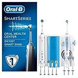 Oral-B 5000 Oxyjet Smart Oral Center - Spazzolino Elettrico e Idropulsore Oxyjet con 4 Testine, 6 Testine di Ricambio