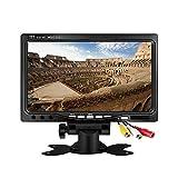 Mini 7 Zoll Auto-Monitor, Kenowa 800x480 Hintergrundbeleuchtung TFT LCD HD Farbe Bildschirm für Auto Rückfahrkamera, Auto DVD, Überwachung Kamera mit Stand, Fernbedienung und 2 AV-Eingang.