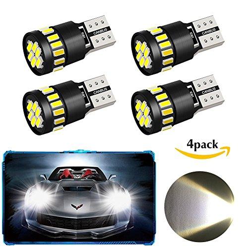 4 Pack T10 W5W 21 x 4014 Lampadine LED auto, Oladwolf Luci interne a LED per auto con luce di...
