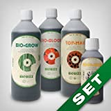 Biobizz Grow Dünger Grow Set - Topmax, BioGrow, BioBloom, RootJuice Wurzelstimulator