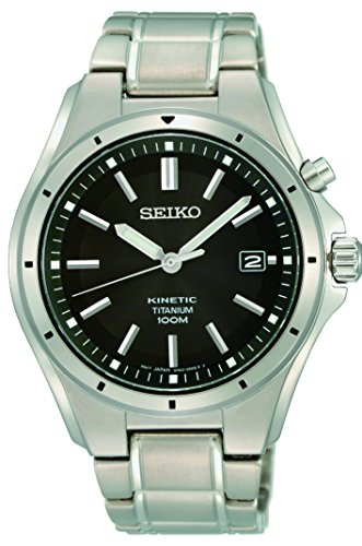 Seiko Orologio Analogico Kinetic Uomo con Cinturino in Acciaio Inox SKA763P1