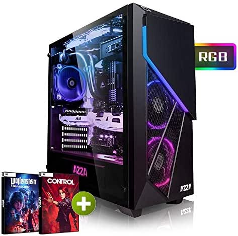 Megaport High End Gaming PC AMD Ryzen 5 2600X 6 x 4.20 GHz Turbo • Nvidia GeForce RTX 2060 6GB • 240GB SSD • 1000GB Festplatte • 16GB DDR4 RAM • Windows 10 • WLAN Gamer pc Computer Gaming Computer