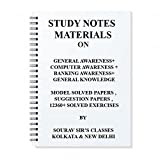 GENERAL AWARNESS + BANKING AWARENESS + COMPUTER AWAREENESS + GENERAL KNOWLEDGE MIXED STUDY MATERIALS NOTES FOR SSC CGL +BANKING +GOVT JOB EXAM+;IBPS +CLERICAL + RAILWAYS +UPSC +CSAT +IAS EXAM NOTES WITH MODEL PAPERS OVER 12360+ SOLVED QUESTIONS+MCQ PAPERS