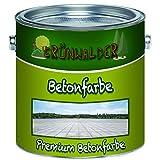 Grünwalder Betonfarbe Bodenfarbe premium Fassadenfarbehoch-elastische und hochlichtecht für den Innen- und Außenbereich (1 L, Lichtgrau (RAL 7035))
