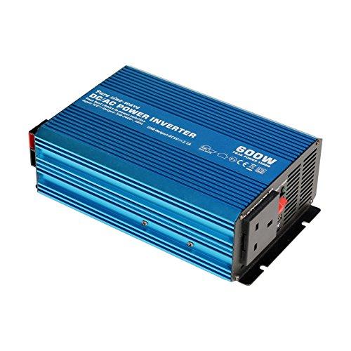 600W 12V Pure Sine Wave Inverter 230V AC uscita (presa EU), potente con porta USB–per...