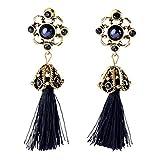 Amesii donna moda Hollow fiore nappa Ciondola orecchini vintage Jewelry