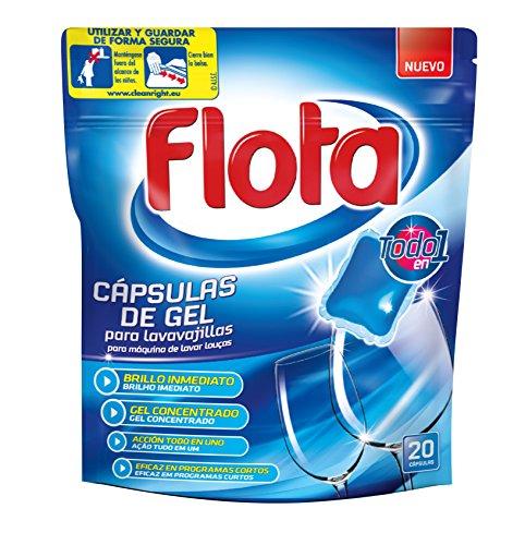 Flota Capsule di gel per lavastoviglie-Confezione da 5x 400gr-Totale: 2000g