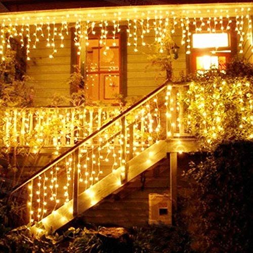 Catena Luminosa, Cascata led, Luci cascata, Strisce LED, 216 LED 5M Led Luci, Luci Stringa Bianco...