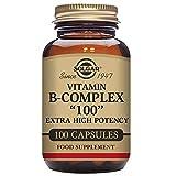 "Solgar Vitamin B-Complex ""100"" Extra High Potency Vegetable Capsules - Pack of 100"