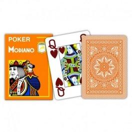 """– """"cristallo"""" MODIANO 100% bavaglinolavabile carte gioco, 4 Pips/segni in un angolo in Jumbo Index"""
