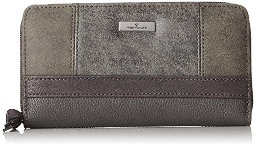 TOM TAILOR Geldbörse Damen Juna, Grau (Grau), 2.5x10.5x20 cm, Portemonnaie Damen