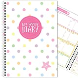 My Foody Diary: compatible with Slimming World (12 months) handmade, food diary, diet diary, tracker, A5 (Rainbow Dots)
