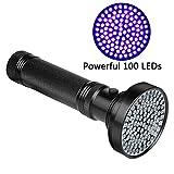 Veetop UV Taschenlampe, Schwarzlichtlampe mit 100 UV-LEDs und 395nm, superstrahlend, robust und wasserfest
