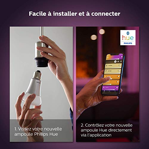 51kvs%2BbM6dL Bon Philips Hue !  Philips Hue Ampoules LED Connectées White & Color Ambiance B22 Compatible Bluetooth, Fonctionne avec Alexa Pack de ...