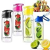 Laptone Unisex's Fruit Infusing Water Bottle, Red, Large