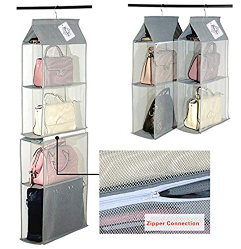 Staccabile 6 Scomparto Organizer Borsa Organizer per Armadio Trasparente Borsa Bag Collection...