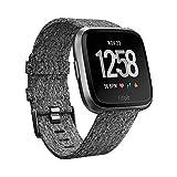 Fitbit Versa Edizione Speciale con Rilevazione del Battito Cardiaco, oltre 4 Giorni di Autonomia della Batteria, Resistente All'acqua, Grigio