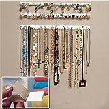 9in 1, espositore per gioielli di pasta da parete con ganci Ganci supporto organizer appendi collane