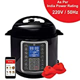 Mealthy MultiPot 9-in-1 Programmable Electric Pressure Cooker 6 Litres with Stainless Steel Pot, Steamer Basket and Mealthy Recipe App. Pressure cook, slow cook, sauté, rice cooker, yogurt & steam.