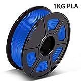 PLA Filament Blue, 3D Hero PLA Filament 1.75mm,PLA 3D Printer Filament, Dimensional Accuracy +/- 0.02 mm, 2.2 LBS(1KG),1.75mm Filament, Bonus with 5M PCL Nozzle Cleaning Filament
