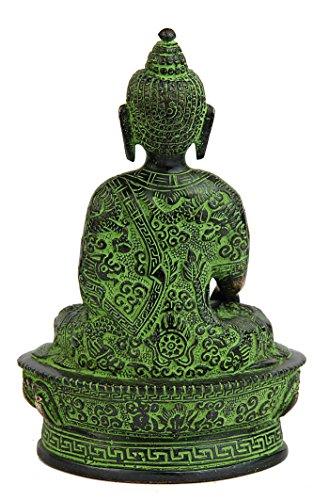 "StatueStudio latón Estatua de Buda con Cuenco Sentado Bronce Budista Sakyamuni 7"" 5"