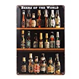 ULTNICE Post Vintage Metal barra signos Plauge lata muestra publicidad de casa tienda decoración de la pared, las cervezas de la Retro del mundo