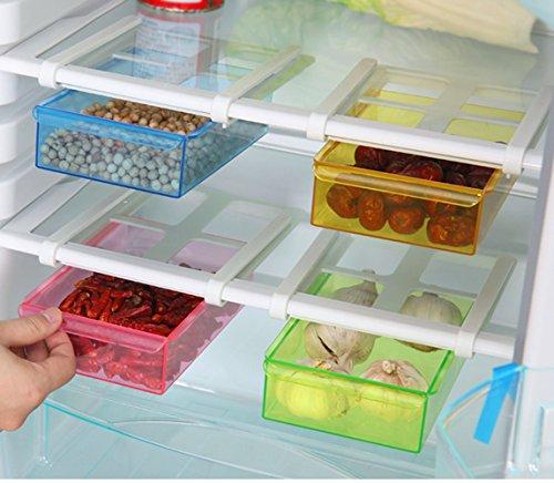 Wjkuku rfrigrateur organiseur space saver tagre for Organiseur tiroir cuisine