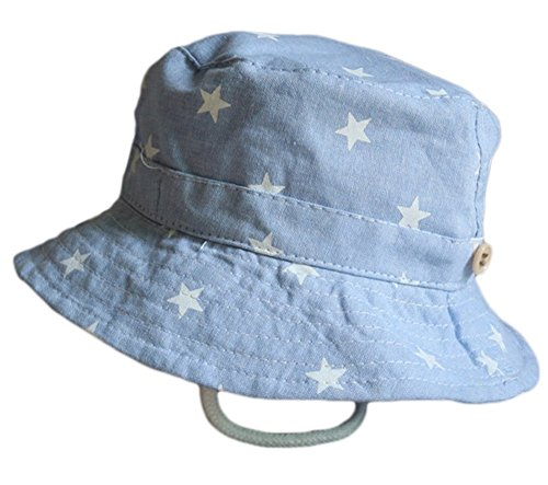 Leisial Sombrero Pescador para Bebé Niños Algodón de Protectora del Sol Gorro de Alas Anchas Proteger Sombrero de Vaquero Venaro
