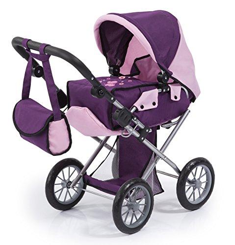 Bayer Design 13657AA, passeggino per bambole City Star, viola, rosa tenue