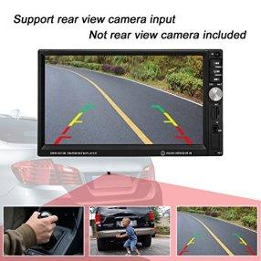 Favoto-Auto-Radio-MP5-Spieler-7-Zoll-HD-1080P-Touchscreen-Doppel-Din-Autoradio-Bluetooth-FM-Radio-Video-mit-Rckfahrkamera-untersttzt-Bluetooth-Micro-SD-AUX-U-Disk