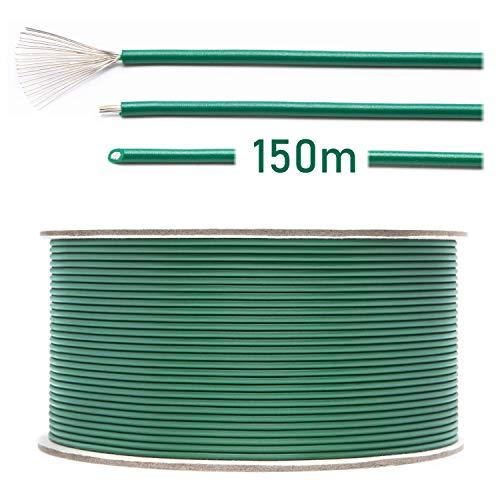 LOHAG - Universal Begrenzungskabel Begrenzungsdraht Kabel für Mähroboter Rasenmäher Rasenroboter Zubehör - hochwertig verzinntes und kupferplattiertes Aluminum - Ø2,7mm - 150m