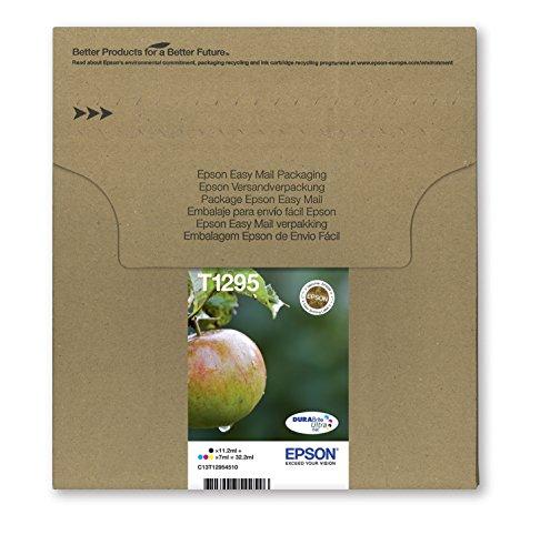 Epson Original T1295 Tinte Apfel, wisch- und wasserfeste  (Multipack, 4-farbig) (CYMK)