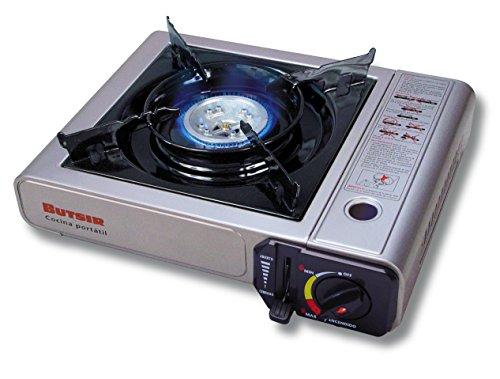 Butsir - COCH0001, Fornello a gas da campeggio, compatibile con cartuccia B250