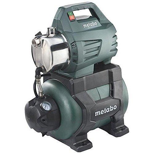 Metabo Hauswasserwerk HWW 4500/25 Inox (1300W, 4,8 bar, 24 l, Fördermenge 4500 l/h, Vorfilter, Rückschlagventil - Hauswasserautomat mit Start/Stop Automatik) 600972000