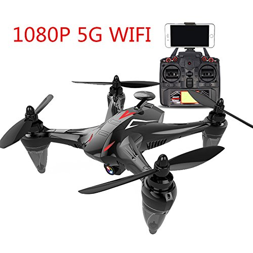 Faironly GW198 Quadricottero Professionale 5G WiFi GPS Brushless con Fotocamera HD RC Drone Regalo Giocattolo 1080p (Red)