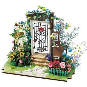 KQKLQQ Top Casas de muñecas de Madera Brillantes, Bricolaje Pequeña Casa Modelo montado Hecha a Mano de cumpleaños del Arte decoración de la casa del Regalo Creativo (Size : The Door of The Secret)