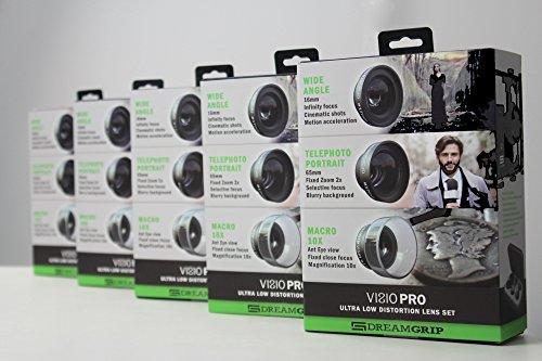 Dreamgrip Visio Pro Ultra Faible Distorsion Ensemble de lentille pour n'importe Quel Smartphone Téléphone Objectif de Fixation 23