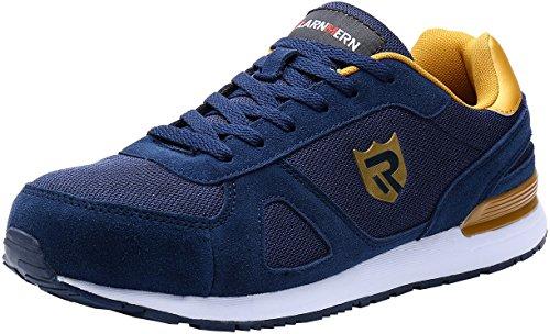 Scarpe Antinfortunistiche da Uomo, Punta in Acciaio Sneakers da Lavoro Leggere ed Eleganti LM-123k...