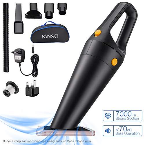 Aspirapolvere portatile, Aspirapolvere senza fili, KINSO120W 7K Pa Aspirapolvere Asciutto Umido...