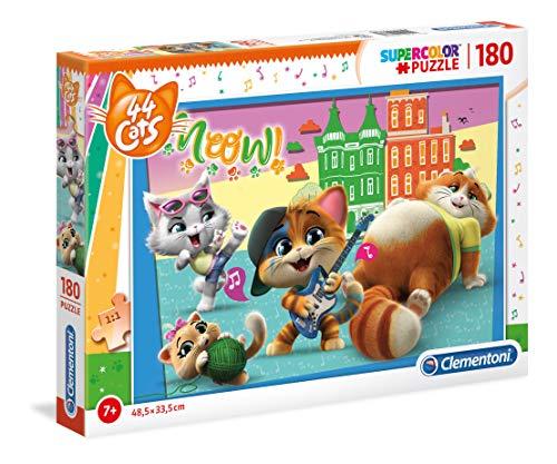 Clementoni Supercolor Puzzle-44 Gatti-180 Pezzi, Multicolore, 29763