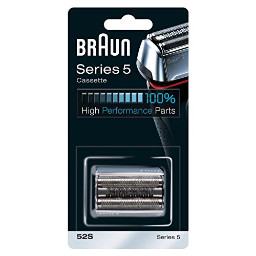 Braun 52S - Recambio para afeitadora eléctrica, compatible con afeitadoras Series 5, color plata