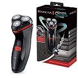 Remington HyperFlex Aqua Pro PR1370 - Máquina de Afeitar Rotativa, Cortadores Acero de Precisión, Negro, Gris y Rojo, Uso Seco y Mojado