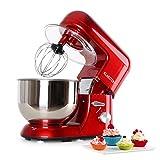 Klarsteinstein TK1 Bella Rossa • robot da cucina • mixer • impastatrice • 1200 W • 6 PS • 5,2 L • sistema planetario • 6 livelli di velocità • terrina in acciaio inox • sistema serraggio rapido • ganci a pressofusione • braccio multifunzionale • rosso