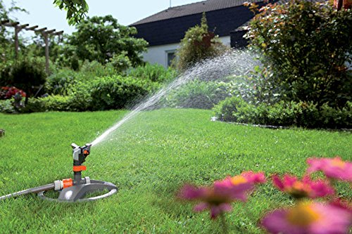 Covering a maximum area of 490m2, the Gardena 8135-20 Premium Full or Part Circle Pulse Sprinkler is simple to operate. The sprinkler system can be set to water the sector of the garden between 25-360 degrees. This allows you to only water the section of the lawn that you want without having to waste water on other areas.