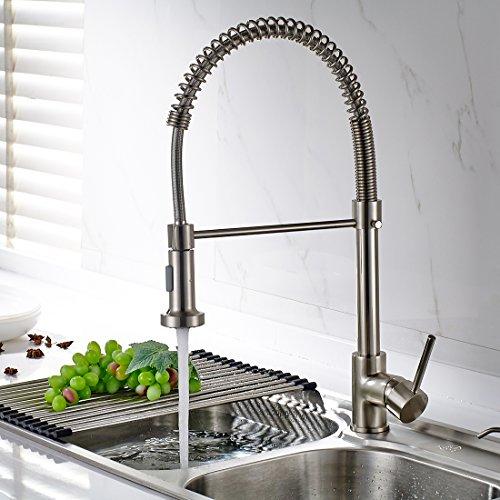 Timaco Wasserhahn Küche Einhandmischer für Küchen Spüle Gebürsteter ...