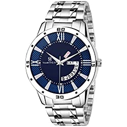 Timewear Analogue Blue Round Dial Day And Date Watch For Men_186Bdtgch