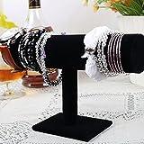 Portagioie espositore per orologi braccialetto Titolare gioielli cremagliera visualizzazione del basamento a strato singolo in velluto nero