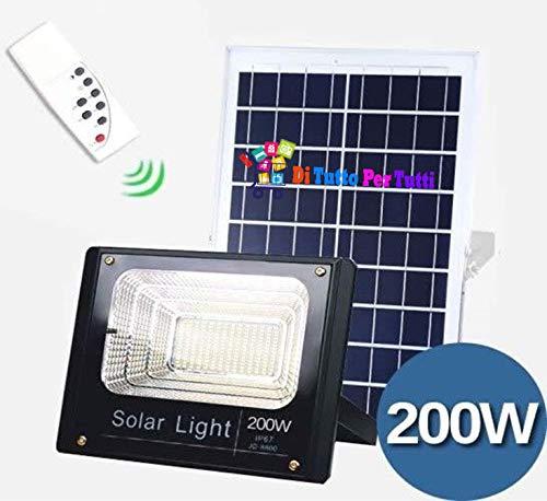 Di tutto Per Tutti Faro FARETTO LED 8200 da Esterno 200W 6500k Bianco Freddo con Telecomando...